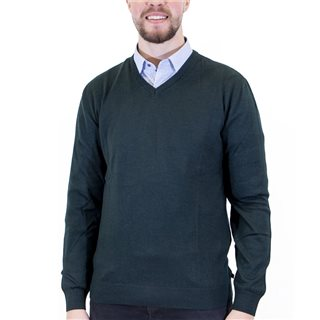 Benetti Forest Merino Wool V-Neck Knit