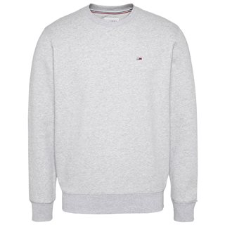 Tommy Jeans Light Grey Regular Fleece Crew Neck Sweater