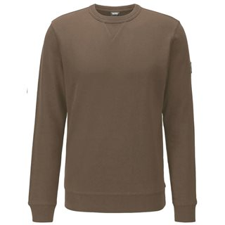 BOSS Khaki Relaxed-Fit Sweatshirt In Cotton Terry With Sleeve Logo