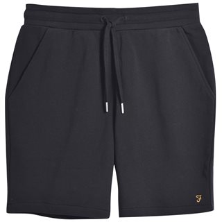 Farah Black Durrington Organic Cotton Jersey Shorts