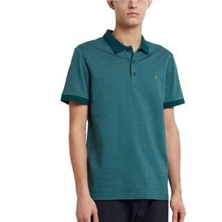 Farah Dark Teal Warren Slim Fit Polo