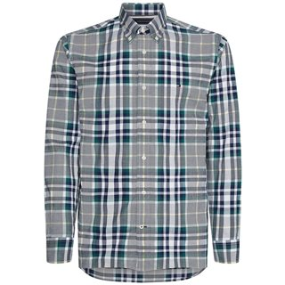 Tommy Hilfiger Rural Green Organic Cotton Midscale Check Shirt