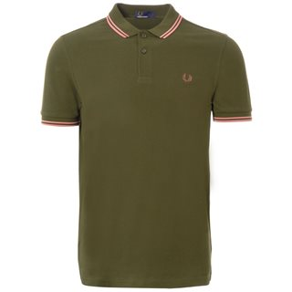Fred Perry Hunting Green M3600 Twin Tipped Polo