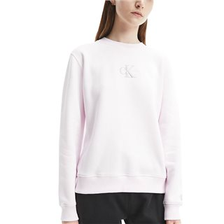 Calvin Klein Pearly Pink Embroidered Logo Sweater