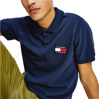 Tommy Hilfiger Navy Lightweight Organic Cotton Polo