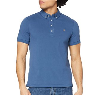 Farah Cold Metal Ricky Slim Fit Organic Cotton Polo Shirt
