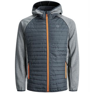 Jack And Jones Grey Multi Quilted Jacket