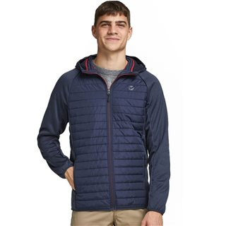 Jack And Jones Navy Multi Quilted Jacket