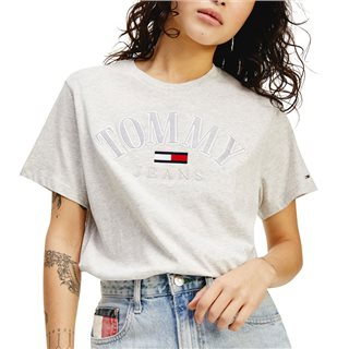 Tommy Hilfiger Silver Organic Recycled Cotton Relaxed Fit T-Shirt