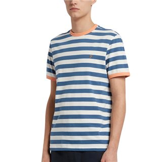 Farah Cold Metal Belgrove Slim Fit Striped T-Shirt