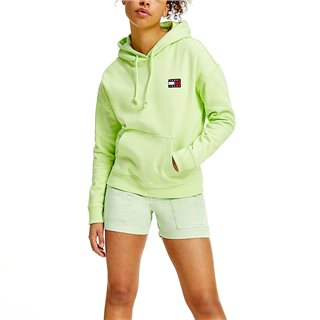 Tommy Hilfiger Faded Lime Tommy Badge Organic Cotton Hoodie