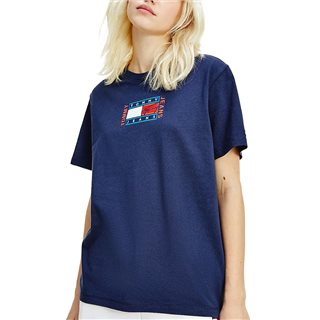 Tommy Hilfiger Navy Logo Embroidery Relaxed Fit T-Shirt