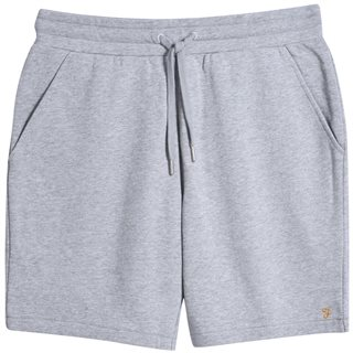 Farah Light Grey Durrington Organic Cotton Jersey Shorts