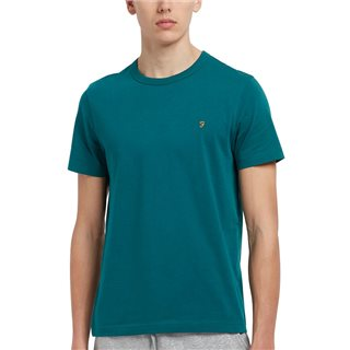 Farah Teal Danny Slim Fit Organic Cotton T-Shirt