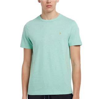 Farah Green Crest Danny Organic Cotton Slim T-Shirt