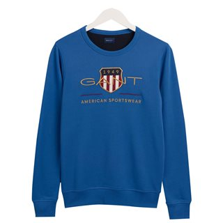 Gant Nautical Blue Archieve Shield Sweater