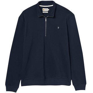Farah Dark Blue Aintree 1/4 Zip Sweatshirt