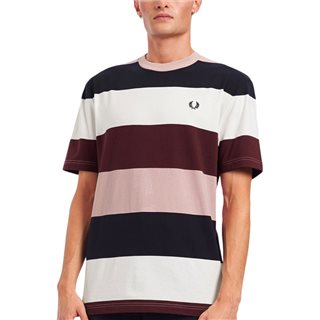 Fred Perry Snow White Bold Stripe T-Shirt