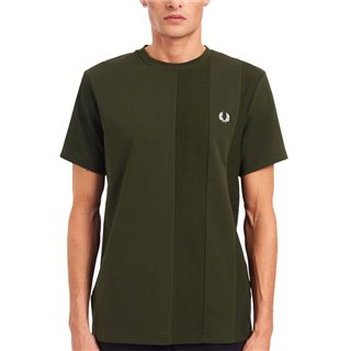 Fred Perry Hunting Green Tonal Stripe T-Shirt