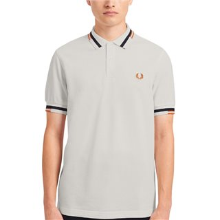 Fred Perry Snow White Abstract Tipped Polo