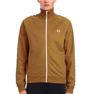 Fred Perry Dark Caramel Taped Track Jacket