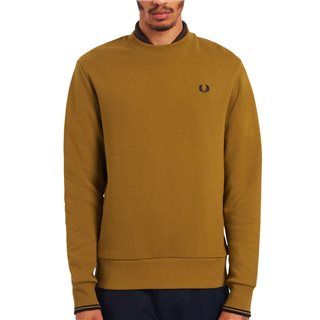 Fred Perry Dark Caramel Crew Neck Sweater