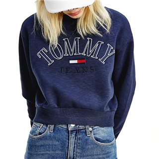 Tommy Hilfiger Twilight Navy Logo Cropped Sweater