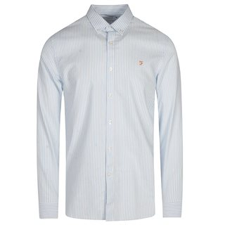 Farah Sky Blue Brewer Stripe Shirt