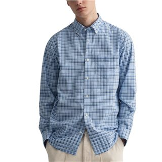 Gant Pacific Blue Regular Fit 3-Colour Gingham Broadcloth Shirt