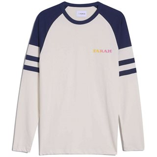 Farah Cream Cabo Organic Cotton Long Sleeve T-Shirt