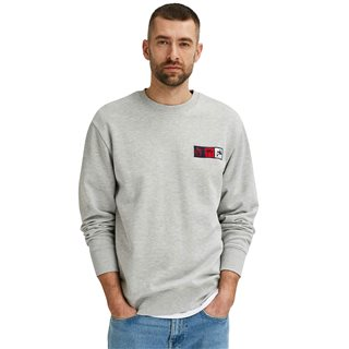 Selected Homme Light Grey Melange Organic Cotton Sweater