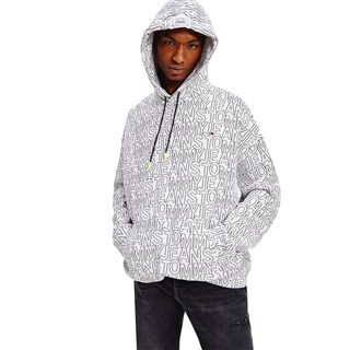 Tommy Hilfiger White/Black Graphic Relaxed Fit Hoodie