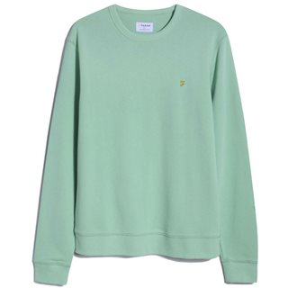 Farah Spring Green Tim Organic Cotton Sweater