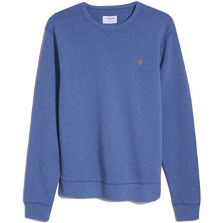 Farah Blue Mist Tim Organic Cotton Sweater