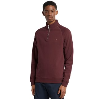 Farah Red Marl Jim 1/4 Zip