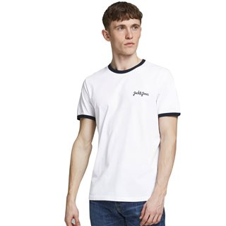 Jack & Jones Originals White Ringer T-Shirt