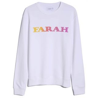 Farah White Palm Organic Cotton Sweater