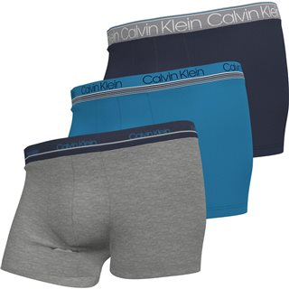 Calvin Klein New Navy Cotton Stretch 3-Pack Trunks