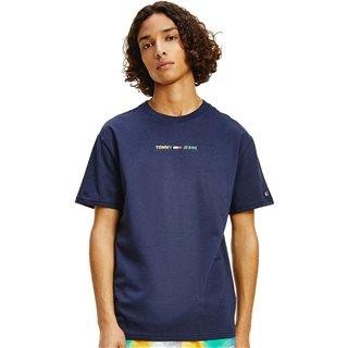 Navy Multicolour Logo T-Shirt