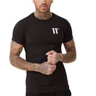 11 Degrees Black Core Muscle Fit T-Shirt