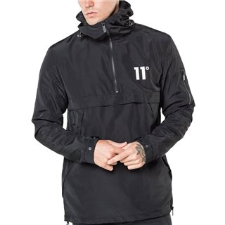 11 Degrees Black Waterproof Hurricane Windbreaker