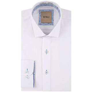 Benetti White Obj Slim Fit Formal Shirt