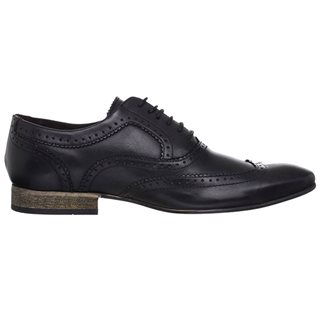 Base London Nutmeg Brogue Black