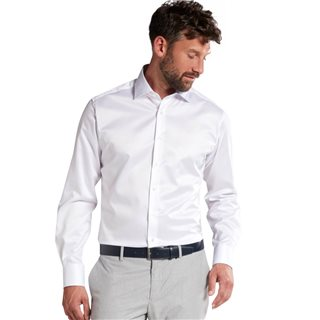 Eterna White Modern Fit Dress Shirt