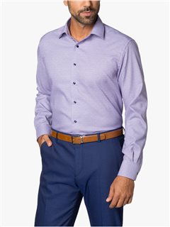 Eterna Modern Fit Dobby Pattern Dress Shirt Lilac