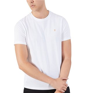 Farah White Denny Slim T-Shirt