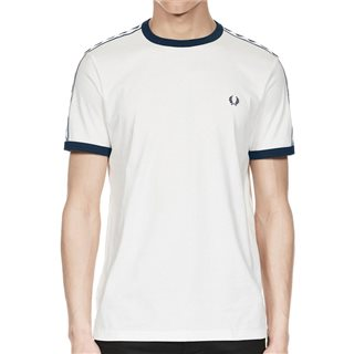 Fred Perry Taped Ringer T-Shirt White