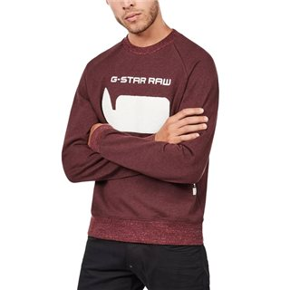 G-Star Dark Fig Revir Stor Raglan Sweater