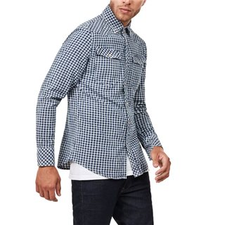 G-Star Hudson Blue/Indigo 3301 Micro Check Shirt