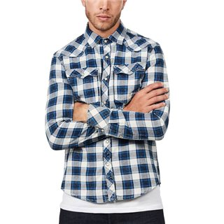 G-Star Indigo 3301 Micro Check Shirt